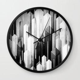 obelisk posture 3 (monochrome series) Wall Clock