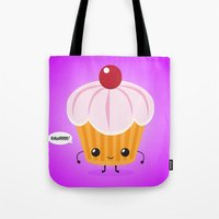 cookie monster Tote Bags featuring Cookie Monster by LAckas