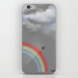 A quarter rainbow iPhone Skin