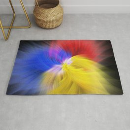 Delicate and fluffy - abstract reverie Rug