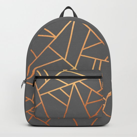 Copper And Grey Backpack
