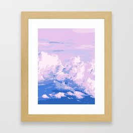 Cotton Candy in Sky Framed Art Print
