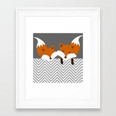 Be curious Framed Art Print