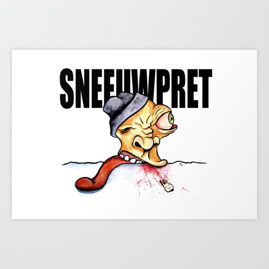 Sneeuwpret (Dutch) Art Print