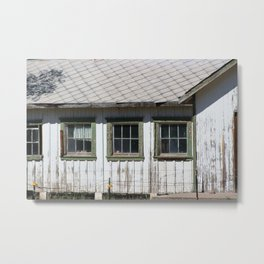Old Shed and Barbed Wire Fort Stanton New Mexico Metal Print