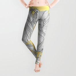 Banana Leaves Illustration - Yellow Leggings