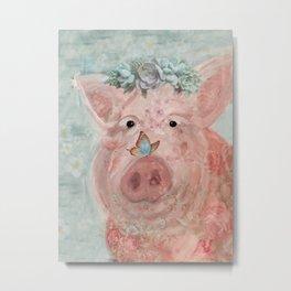 Bae The Pig Metal Print