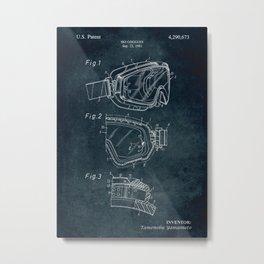 1981 - Ski Goggles patent art Metal Print