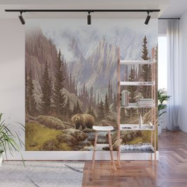 Grizzly Bear Landscape Wall Mural