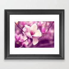 Lonely Flower - Radiant Orchid Framed Art Print