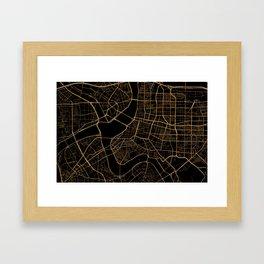 Taipei map, Taiwan Framed Art Print