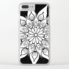 Daisy mandala Clear iPhone Case