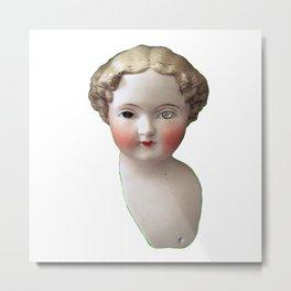 Mentalembellisher Mad-Eyed Victorian Bisque Doll Head Metal Print