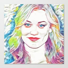 Yvonne Strahovski (Creative Illustration Art) Canvas Print