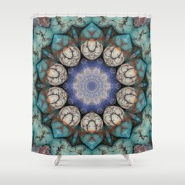 Stoned Flower Shower Curtain