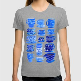 Coffee Mugs and Teacups - A study in blues T-shirt