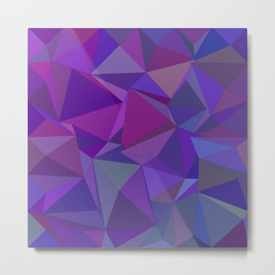 Chaotic purple tiles Metal Print