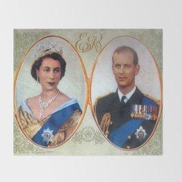 Queen Elizabeth 11 & Prince Philip in 1952 Throw Blanket