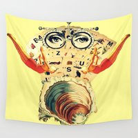 psychology Wall Tapestries featuring Mystical uterus by Laura Nadeszhda