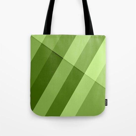 Greenery modern geometric lines Tote Bag