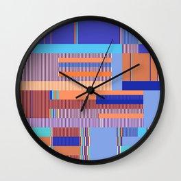 Scandinavian Moon (Blue Salmon Colours) Wall Clock