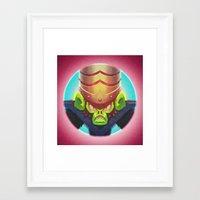 jojo Framed Art Prints featuring Mojo Jojo by Jermaine Jose