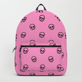 Pink Skull Pattern Backpack