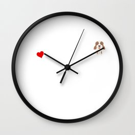 A Life Without An English Springer Spaniel Is Like I Have No Idea Super Cute And Funny Dog Gift Idea Wall Clock