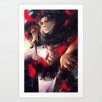 levi Art Prints featuring Levi by 1MI0
