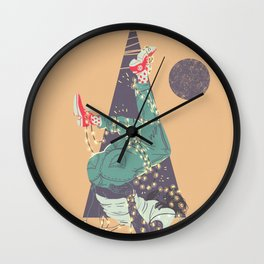 Lonesome Christmas Wall Clock
