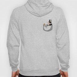 Pocket Corgi Black Hoody