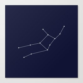 Virgo Star Sign Deep Blue Canvas Print