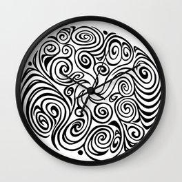 Twisty Swirly (Black) Wall Clock