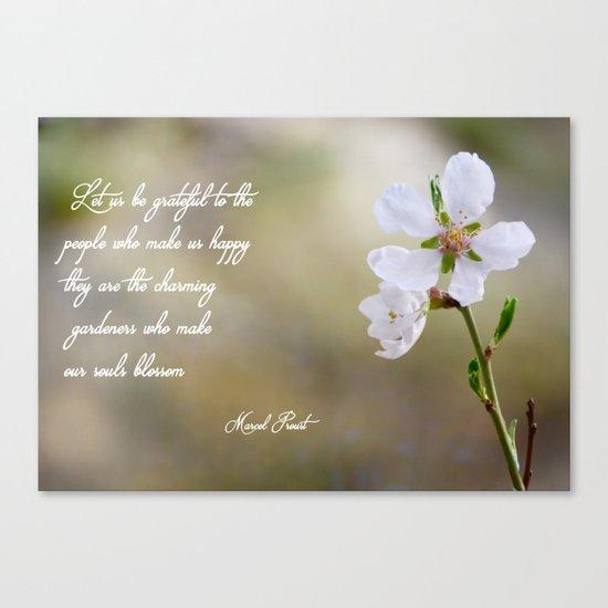 Let us be grateful Canvas Print