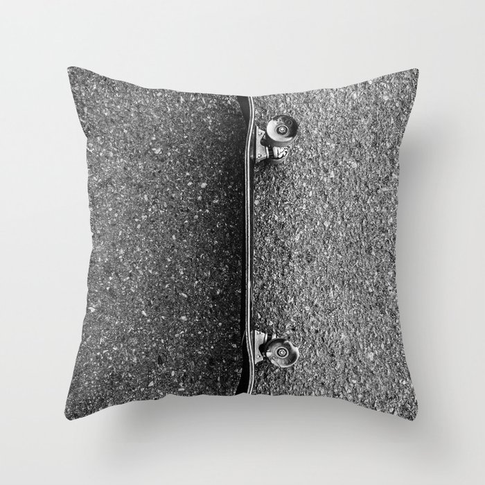 Resting Skateboard Throw Pillow