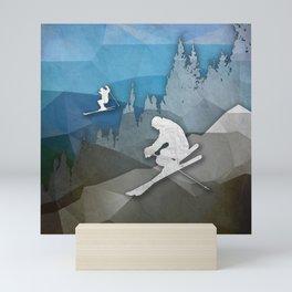 The Skiers Mini Art Print