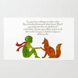 Little Prince Quote Rug