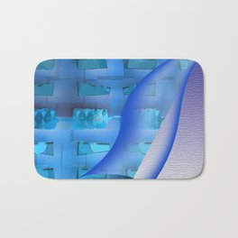 Blue Twisty Bath Mat