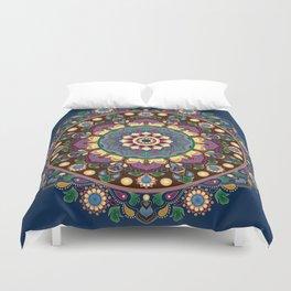 Vintage Floral Mandala Duvet Cover