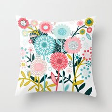 Wild Bouquet Throw Pillow