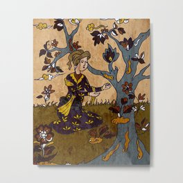 Persian man in Garden Metal Print