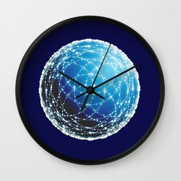 The Blue Orb Wall Clock