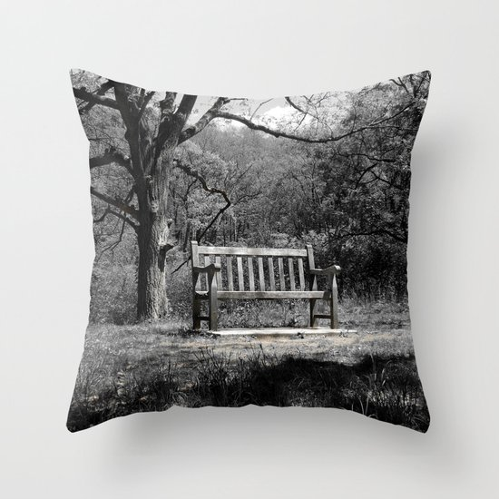 Throw Pillows On Clearance : Park Bench Throw Pillow by Phil Perkins Society6