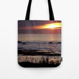 Surreal Seaside Sunset Tote Bag