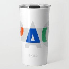 SPACE I NEED (GREY) Travel Mug