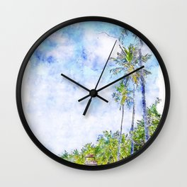 Caribbean Coast Wall Clock
