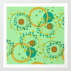 Concentric Green Art Print