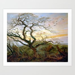Caspar David Friedrich The Tree of Crows Art Print