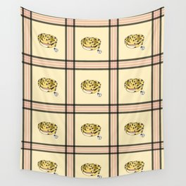Leopard Gecko Plaid Wall Tapestry