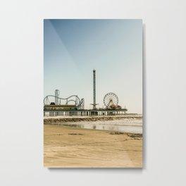 Pleasure Pier Metal Print